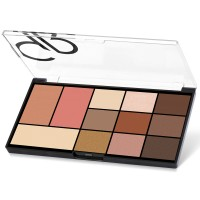 City Style Face & Eye Palette GR [Golden Rose] - 01 Warm Nude