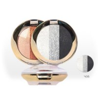 Golden Rose ''Tριπλή Μαυρογκρί Σκιά'' Terracotta Sparkle Trio Eyeshadow 406