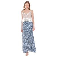 Platinum Maxi Mπλέ Φούστα-Παρεό ''Floral Print''- 22038
